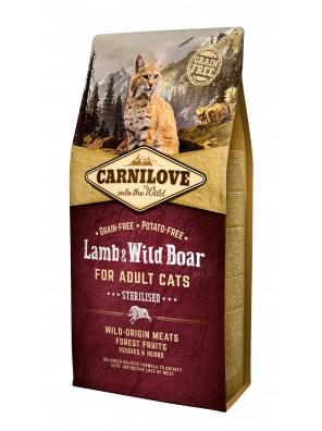 CARNILOVE CAT Lamb & Wild Boar, Chat stérilisé