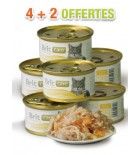 BRIT CARE - Boîte Chat - Blanc de poulet & Fromage (lot de 6x80g)