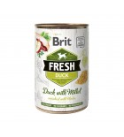 BRIT FRESH - CAN DOG - DUCK WITH MILLET - 400G