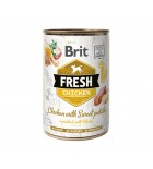 BRIT FRESH - CAN DOG - CHICKEN WITH SWEET POTATO - 400G